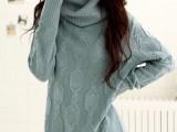 代理加盟 加厚进口优质毛线 热销万件 长款女式毛衣YHD8061