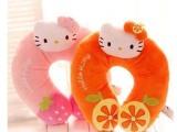 正版hello kitty凯蒂猫可爱猫咪毛绒卡通U型护颈枕办公室