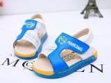 1-3岁宝宝新款男宝宝凉鞋撞色 软底透气 儿童沙滩鞋小码 男童鞋