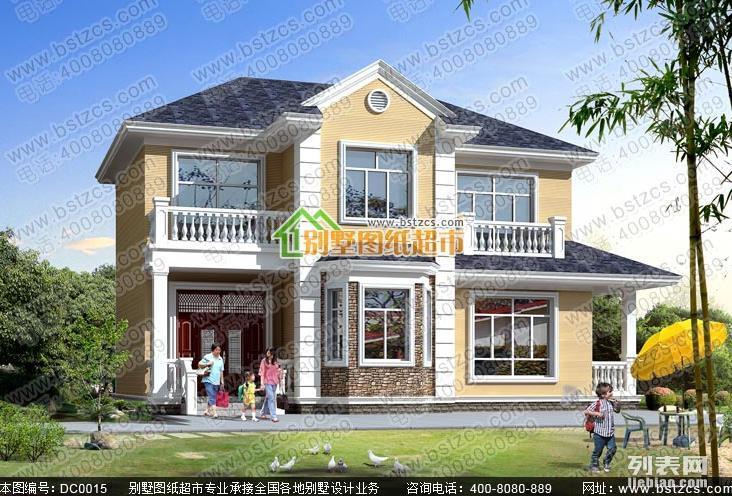 新农村25万二层占地130平方米农村自建小别墅案例