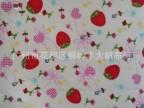 英国田园Cath Kidston同款草莓印花防水防污布料 贴合透明哑光PVC