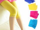 【淘货源】儿童七分花边蕾丝天鹅绒连裤袜子女童打底裤袜舞蹈袜