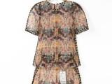 DAZZLE地素2014夏新款欧根纱印花 裙装 套装面料