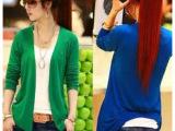 春装新款针织开衫 女式长袖韩版中长款空调防晒线衫