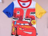 2547#童装外贸 汽车总动员 短袖T恤 童夏装 卡通T  汽车