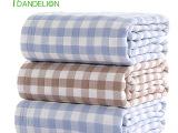 丹迪丽五层格子纱布盖毯被纯棉毛巾被柔软吸