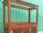 鱼缸茶台 实木雕花水族箱 十大品牌鱼缸专卖