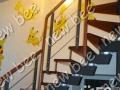 柳州墙绘 大型商场会所楼中楼楼梯走道 整体创意壁画
