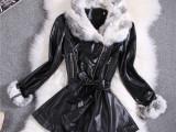 厂家直供皮草外套奢华安哥拉兔毛加绒加厚皮衣大衣外套T306