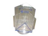 落地亚克力产品资料架 有机玻璃旋转展示架 三面亚克力香烟陈列柜