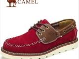 一手货源 新款真皮男鞋 駱駝男式头层牛皮鞋 日常休闲鞋 低帮鞋潮
