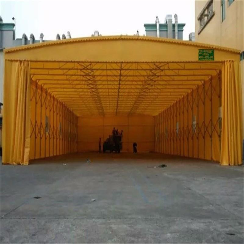 北海定做推拉雨棚伸缩活动帐篷移动帆布雨棚彩钢瓦棚施工铁篷