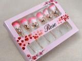 深圳凯诺化妆刷工厂批发6支玫瑰花化妆刷套装 盒装美妆工具