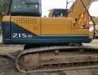 二手挖掘机现代215-9出售 工地一手车