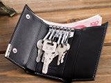 新款多功能汽车钥匙包男士真皮包 男式锁匙包牛皮卡包拉链零钱包
