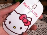 工厂批发水转印无线鼠标 超萌版hello kitty 卡通usb