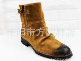 韩版英伦潮流短靴男式靴子 男靴子 时尚靴 皮靴男鞋牛仔靴 021