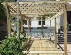 怀柔私家花园绿化施工制作 防腐木室外凉亭设计施工