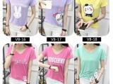 韩版女装短袖T恤大码时尚打底衫批發厂家直销