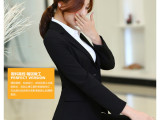 夏季女士修身职业装女西服套装酒店银行商务正装行政OL文员装