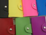 厂家直销 供应仿真皮信用卡包 简约时尚银行卡包 24卡位卡包批发