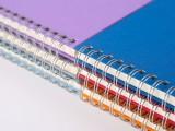 A4商务线圈本子加厚充皮布封面记事本办公双环螺旋活页笔记本