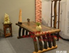 泉州市老船木办公桌家具茶桌椅子客厅沙发茶几茶台实木会议大板桌