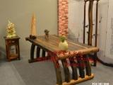 佛山市老船木办公桌家具茶桌椅子客厅沙发茶几茶台实木会议大板桌