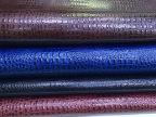 优质真皮皮革厂家直销 高品质牛皮压花油蜡小鳄鱼纹 大量供应