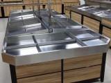 万悦货架厂果蔬架 钢木货架 超市货架 促销台