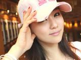 2014韩版新款 春夏女帽字母H棒球帽子批发 女款鸭舌帽工厂