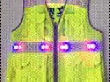 反光马甲 察反光背心LED灯充电交警反光背心