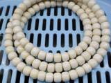 厂家直销 猛犸牙佛珠项链108 奶油白