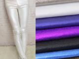 厂家直销现货库存时尚面料 欧日韩金属系打底小脚裤布料 B656