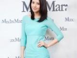 2013新款明星同款连衣裙修身七分袖圆领玉兰色清新靓丽款裙装