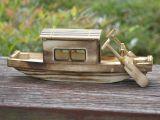 厂家直销创意仿真木制渔船工艺品摆件家居办