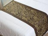 宾馆酒店床品用品 床尾巾 2013年最新花型 高档丝织材质