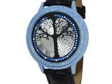 混批LED手表60灯树枝触摸手表烤陶瓷仿瓷手表批发许愿树手表