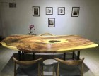 公司高端实木家具 办公桌 黑檀木