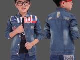 米字旗牛仔外套 童装一件代发 童装网店代理加盟 淘宝分销货源