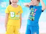 新款童装纯棉短袖套装可爱卡通图案潮童夏装厂家服装直销批发