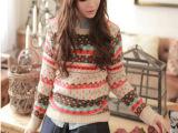 秋装韩版女装修身短款圆领针织衫打底衫春款外套 加厚毛衣