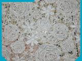 承接各类 汕头白色棉布刺绣花边产品 全棉水溶蕾丝花边