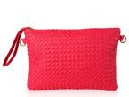 厂家直销 欧美范时尚高端大气糖果色编织手拿包 女式单肩包