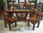昭通市老船木茶桌椅子仿古茶台实木沙发茶几餐桌办公桌家具博古架