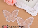 韩国蕾丝花边透明网纱布贴可爱蝴蝶手缝DIY布贴白色厂家直销