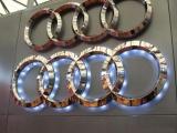 奥迪三维汽车标识/标志/不锈钢三维字制作