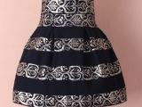 外贸女装批发 欧美巴洛克风格盾牌印花高腰蓬蓬裙百搭半身短裙子