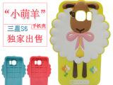 新款三星S6卡通硅胶手机保护套 三星S6手机壳小萌羊手机外壳潮