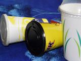 供应纸杯 一次性纸杯  带盖冷饮纸杯  可印刷LOGO的冷饮杯